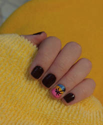 Summer Beach Nail Art by Rebecca-Petro