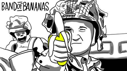 Band of Bananas Drawn by mewwww17