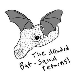 Bat-Squid Drawn by mewwww17