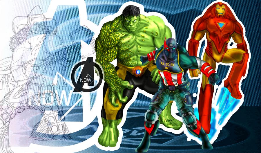 How I'd redesign the Avengers by LukeLlenroc
