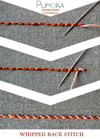 Whipped Back Stitch Tutorial By Pumora On Deviantart