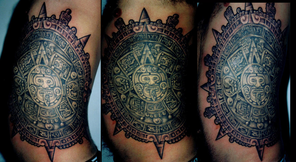 Mayan Sun Tattoo Designs