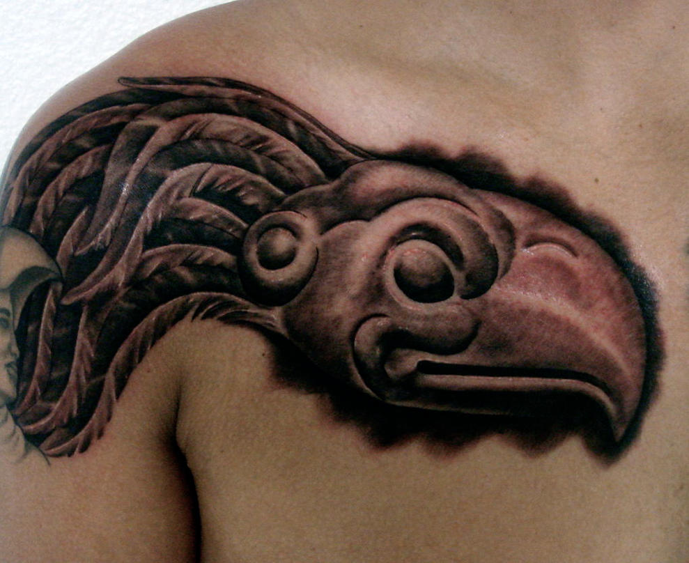 AZTEC EAGLE TATTOO by
