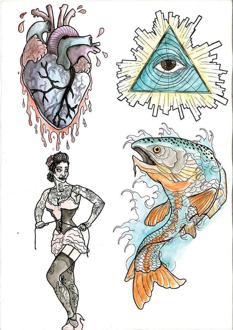Tattoo flash design by Haaki on DeviantArt