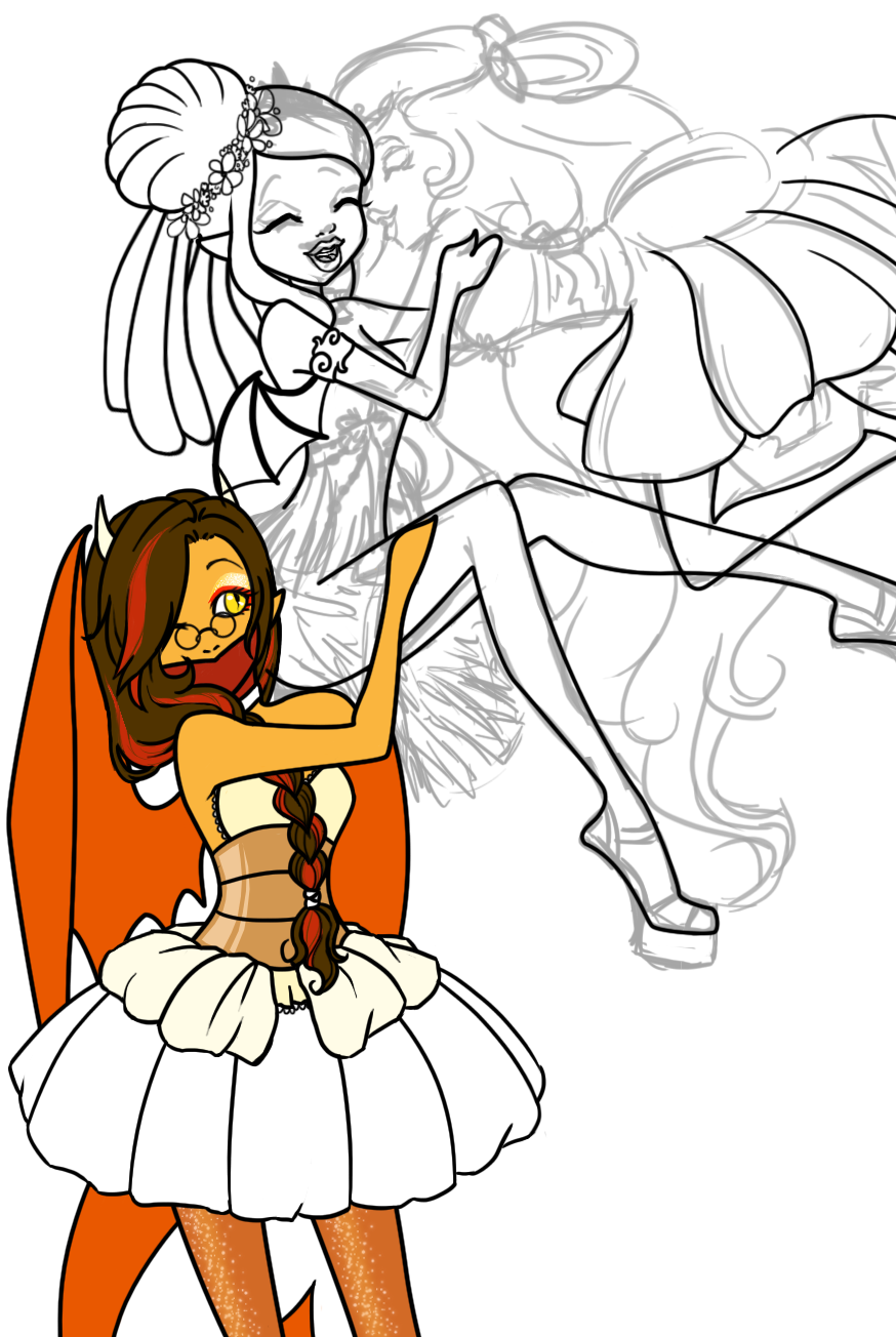 Happy Sweet 160 Demona WIP by GoldenSnowfire