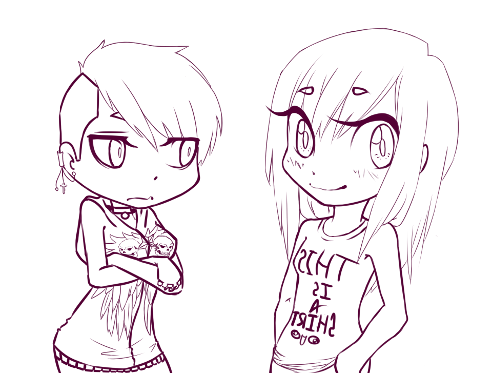 WIP: mah sista and meh by silvzyu