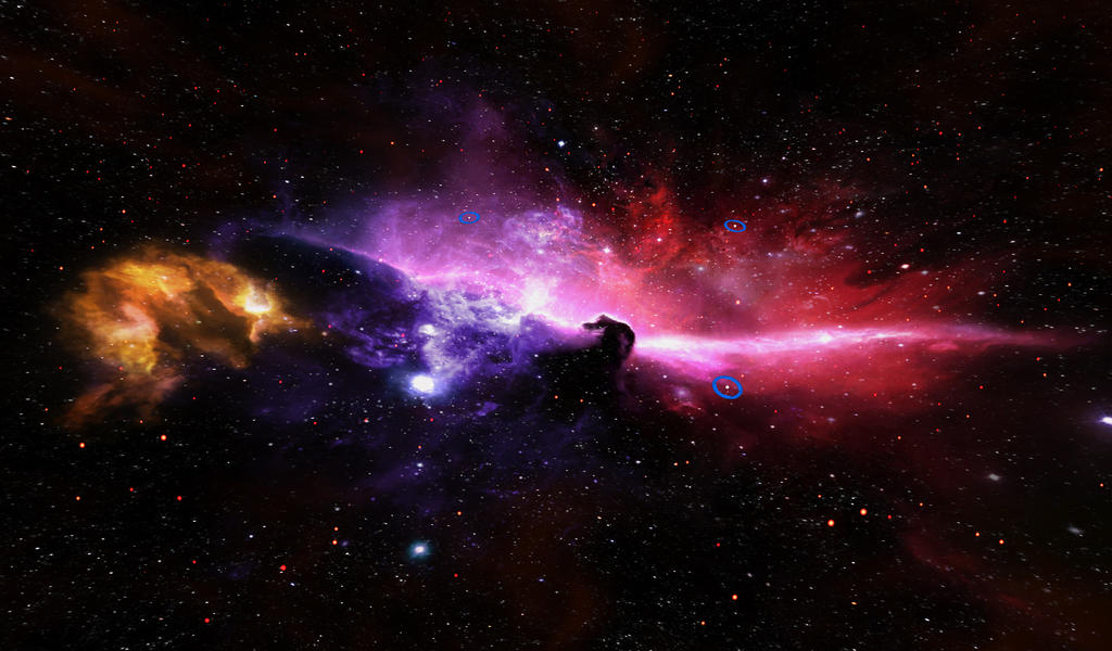 Galaxy - Horse Head Nebula by Sirusdark