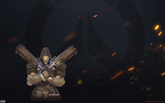 Overwatch Fire Wallpaper 1920x1200 - Reaper