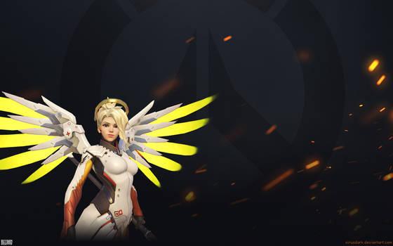 Overwatch Fire Wallpaper 1920x1200 - Mercy