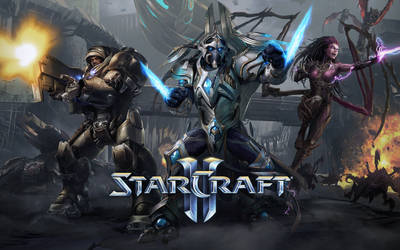 StarCraft II Splash Screen Trio - 1920x1200