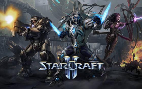StarCraft II Splash Screen Trio - 1920x1200