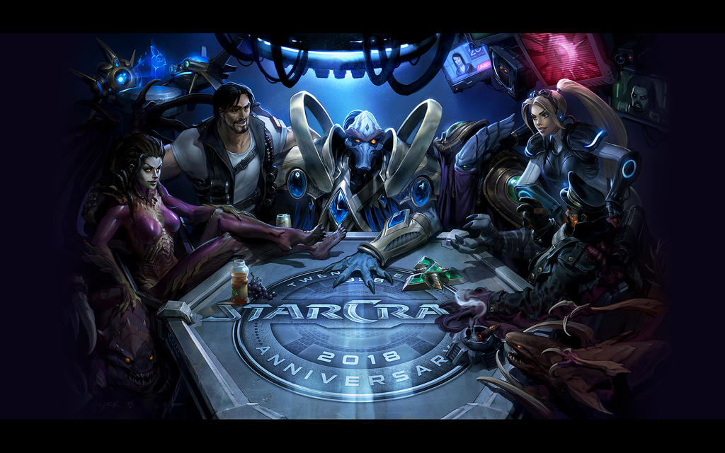 StarCraft II 20th Full Wallpaper - 1920x1200 by Sirusdark