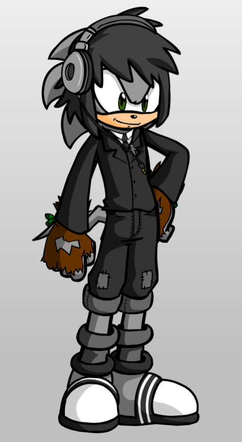 Me if I were a Sonic Character - Brandon Hedgehog by thatonesmurfX103-9