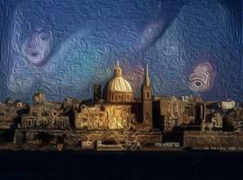 Valletta skyline23 by DonkehSalad23
