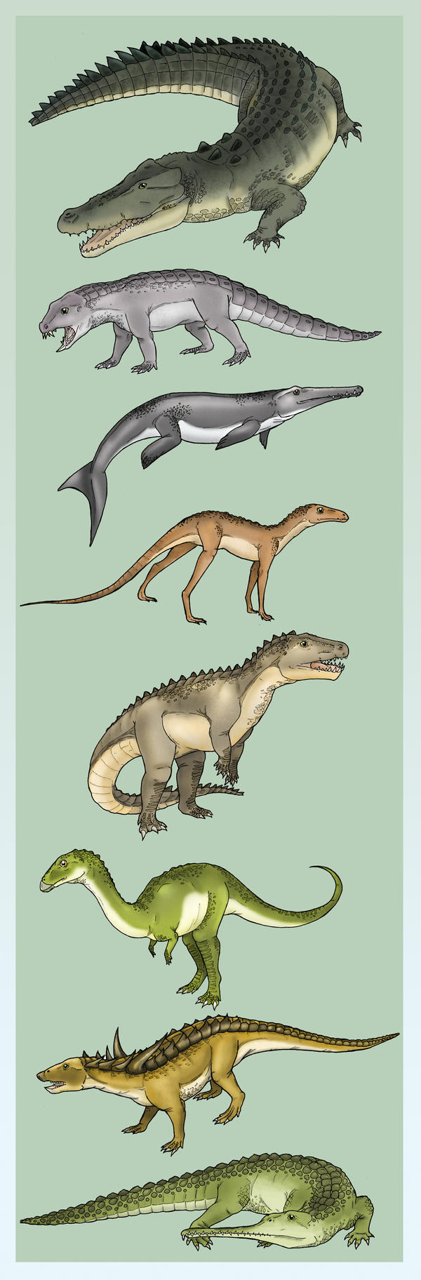 Diversity of the Crurotarsi by Eurwentala
