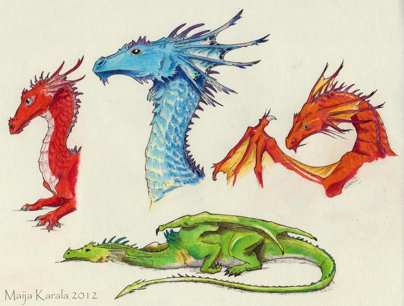 Rainbow of Dragons by Eurwentala