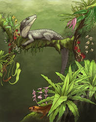 Croc in a Tree by Eurwentala