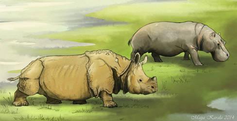 Time-travelling Rhinoceros by Eurwentala