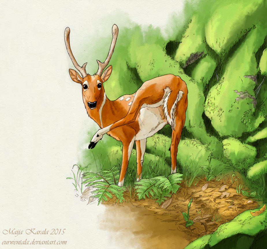 Cretan Deer by Eurwentala