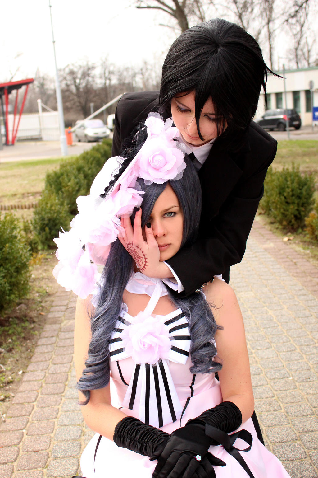 Lady Ciel and Sebastian by Ayame-Aoi