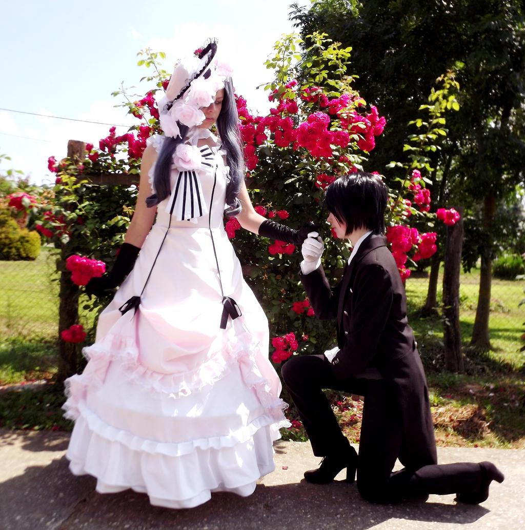 Lady Ciel x Sebastian by Ayame-Aoi