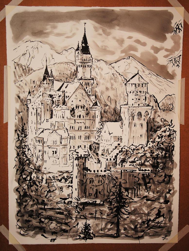 Neuschwanstein Castle by chillerofhell