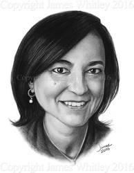 Anita Moorjani Portrait by JamesCreations