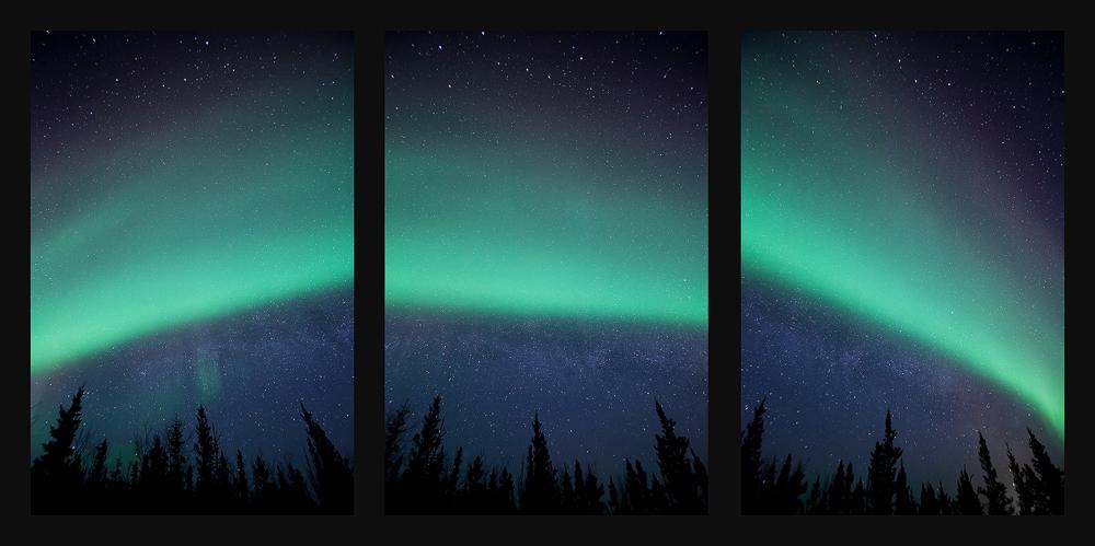 Aurora Rainbow Triptych by Thomas-Koidhis