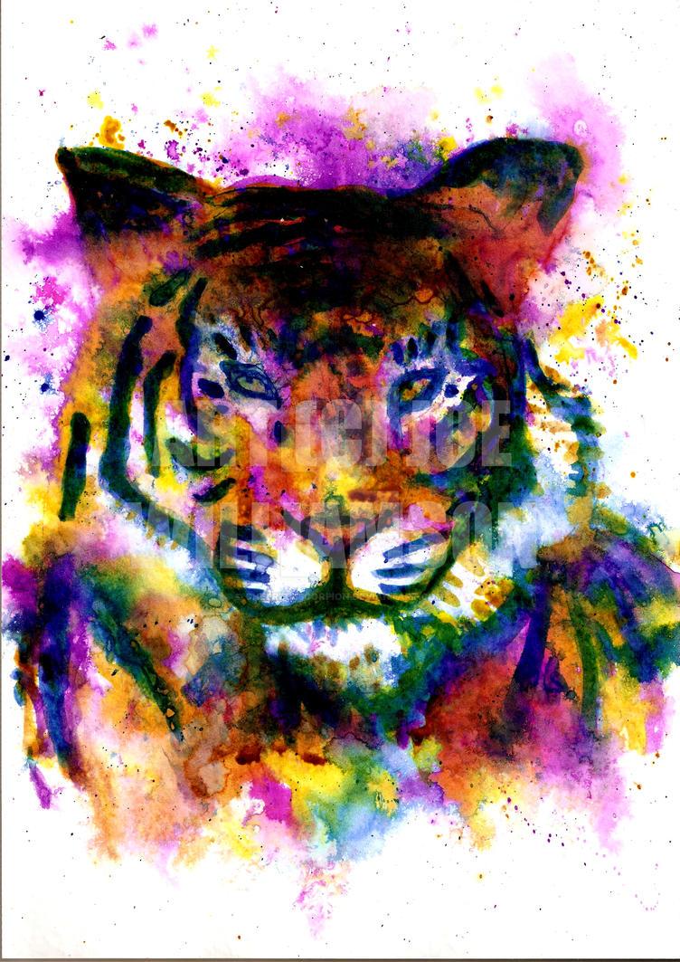 Rainbow Tiger by cheerfulscorpion