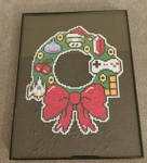 Nerdy Christmas wreath by fire-n-ice-dragon