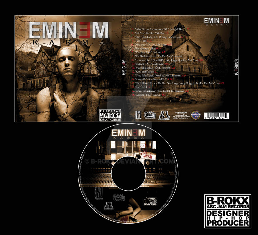 Eminem CD Cover School Project by b-rokx on DeviantArt
