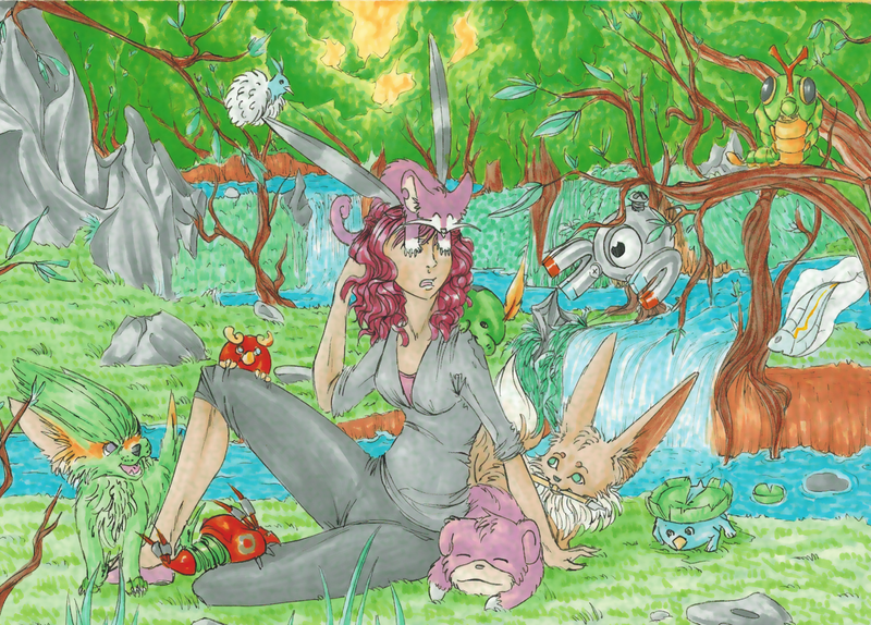 Pokecity - In the forest by Rena-Circa