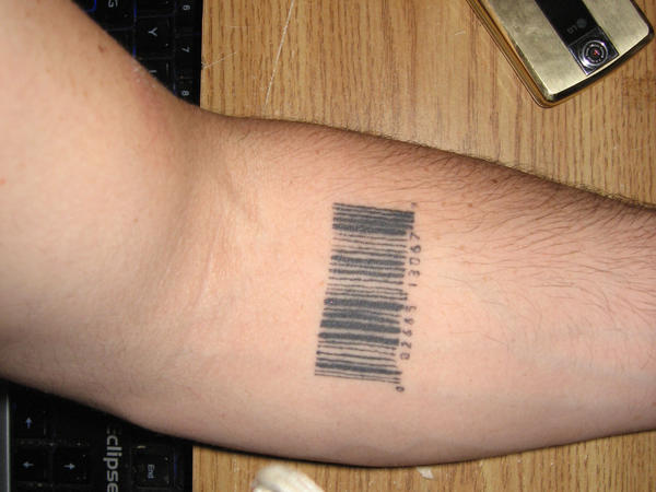 Barcode tattoo by crafty0 on deviantart for Tattoo stuff for sale