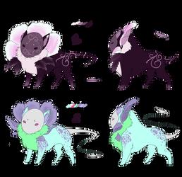 [ADOPTABLE] Flora Felines by Tonwe