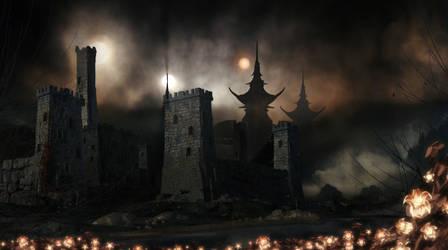 Citadel (E. Hamilton The Star Kings art) by Provod