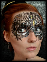 Closeup Cirque du Noir Zentangle by sweetgreychaos