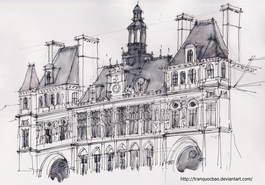 Hotel De Ville De Paris By Tranquocbao On Deviantart