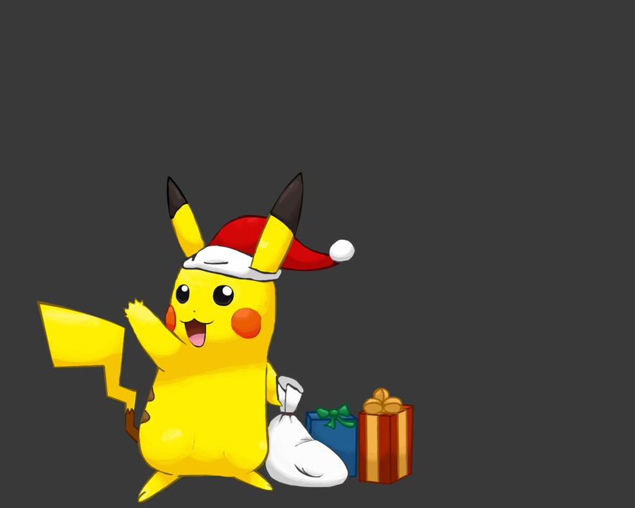 Christmas Pikachu Wallpaper by francy980