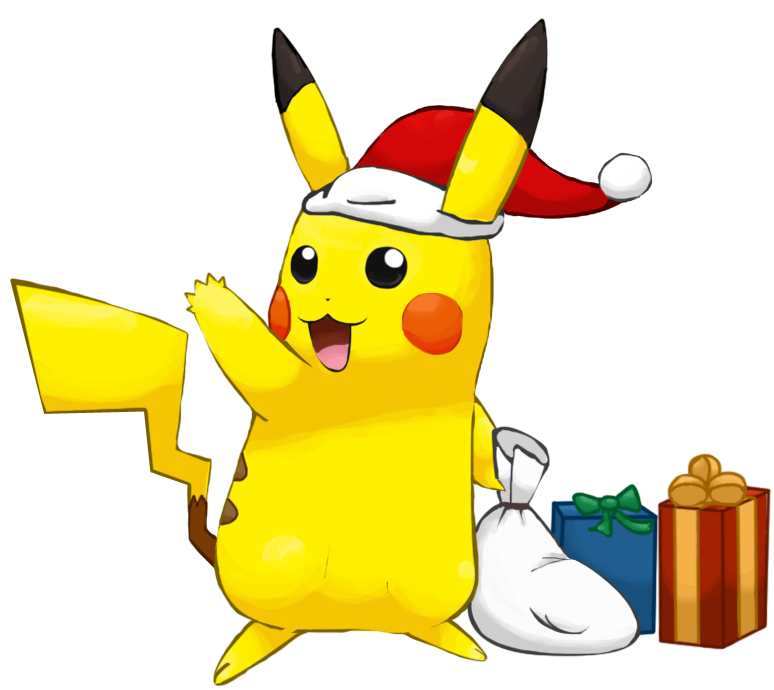 Christmas Anime Render Christmas Pikachu Render by