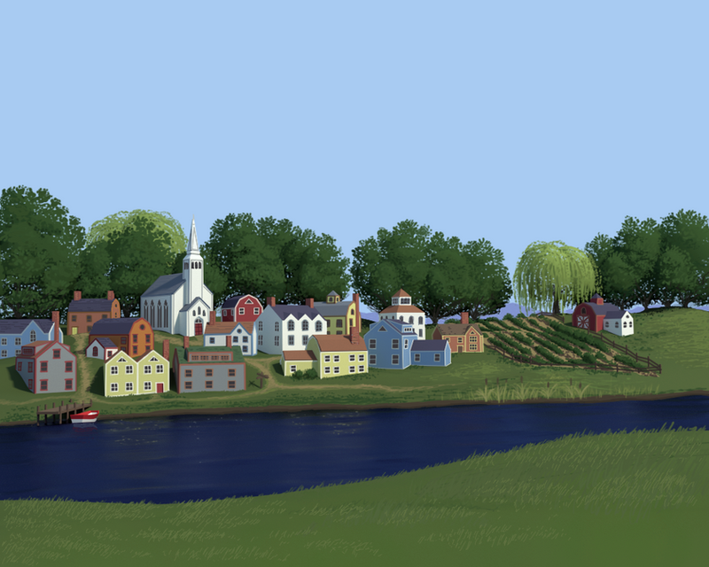New England Village by SpecterCody