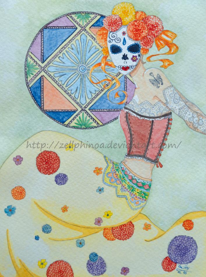 Dia de Los Muertos by Zellphinoa