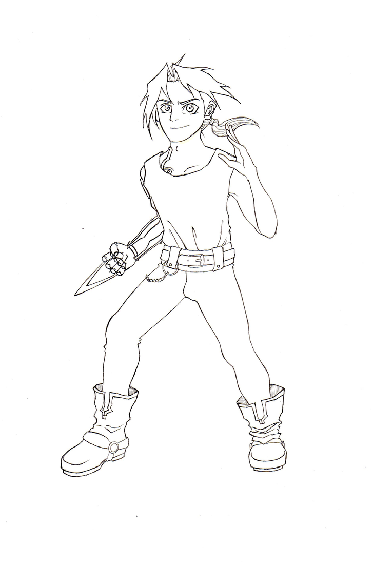 Q Line Art : Edward elric line art by kylelovesorangesoda on deviantart