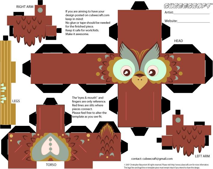 owl cubeecraft by SlaterAW