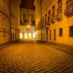 Vienna - alleyway - night
