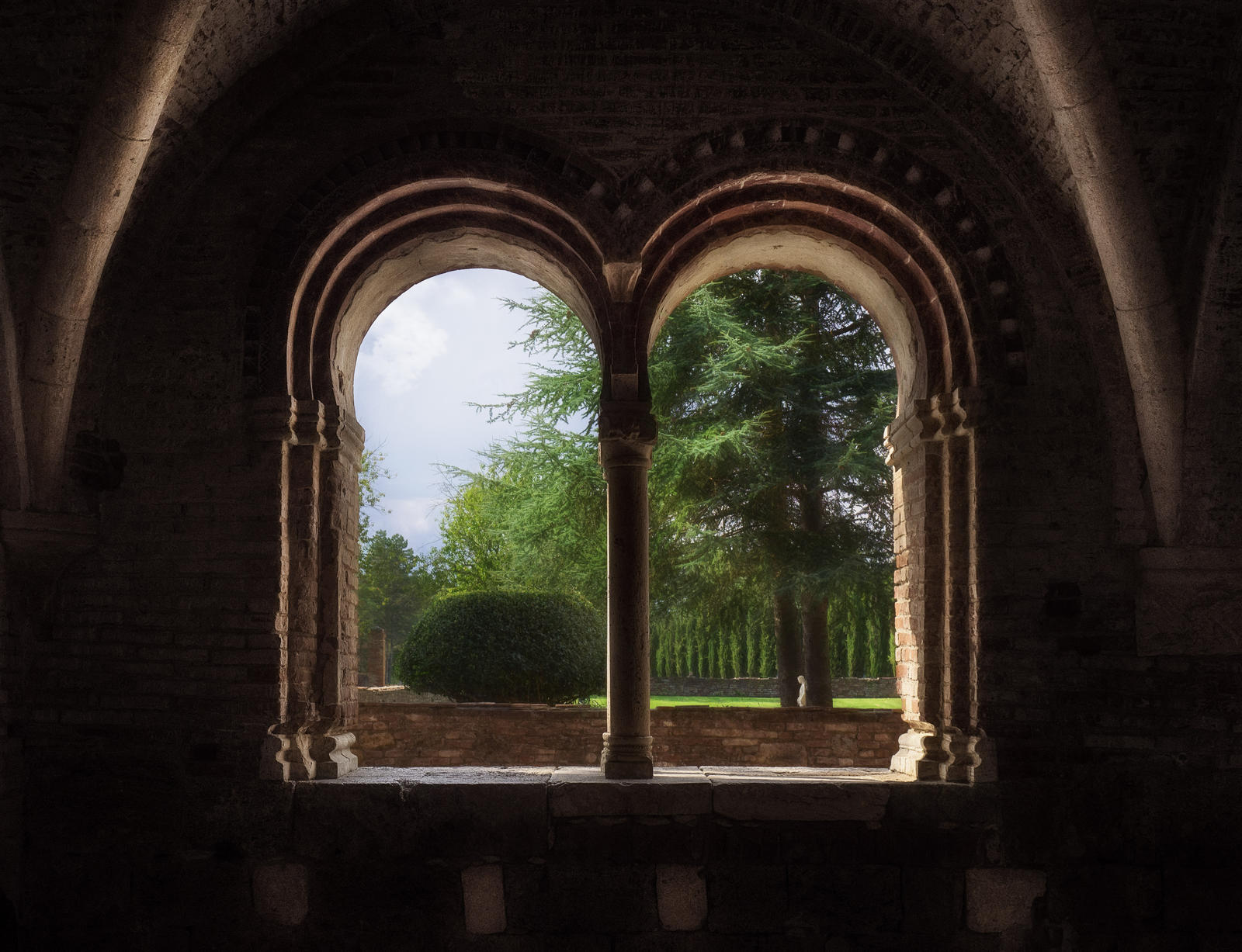 view into the garden - tuscany