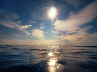 background - frozen lake and sun by 8moments