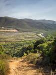 Background - path up hill - tuscany coast