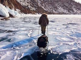 Walking on boiling ice.