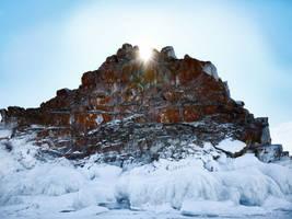 Frozen vulcanoe erupting the sun. by 8moments