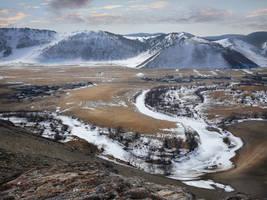 Frozen Creek - Sibiria - landscape by 8moments